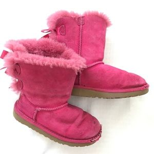 4b4c5991acf UGGS BAILEY BOW PINK LACE UP GIRLS BOOTS
